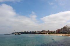比亚利兹海湾  免版税库存照片
