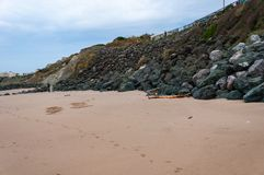 比亚利兹海滩,法国:大西洋的美丽如画的镇 为它芳香抚人的空气使有名望的阿基旃旅游胜地 免版税库存图片