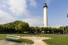 比亚利兹灯塔,法国 免版税库存图片