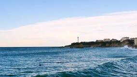 比亚利兹风景,法国的西南的 股票视频