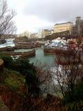 比亚利兹,法国Оld港口  库存照片