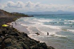 比亚利兹-冲浪者海滩 免版税库存照片