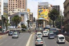 比亚松大道和Plaza del Estudiante在拉巴斯,玻利维亚 免版税库存图片