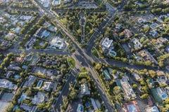 比佛利山加利福尼亚六个方式交叉点天线 图库摄影