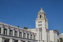 比佛利山市政厅美丽的主楼  图库摄影