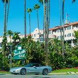 比佛利山旅馆在一个晴天 库存图片