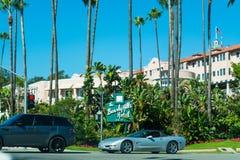 比佛利山旅馆在一个晴天 免版税库存图片