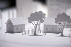 比例模型大厦 免版税库存图片