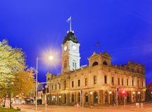 比克Ballarat城镇厅角落上升 免版税库存照片