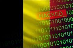 比利时乱砍了国家安全 在财政和银行业务结构的Cyberattack 秘密信息偷窃  向量例证