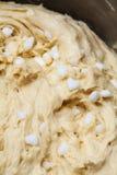 比利时人列日或糖奶蛋烘饼的面团 免版税库存图片