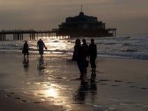 比利时人布鲁基海滩 免版税图库摄影