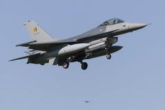 比利时人F-16在吕伐登 库存图片