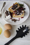 比利时华夫饼干系列19 免版税库存照片