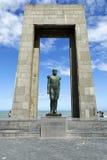 比利时国王利奥波德雕象我德帕内的,比利时 免版税图库摄影