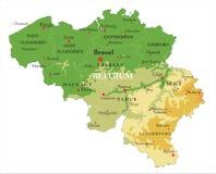 比利时地势图 库存照片