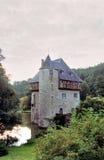 比利时城堡日落 库存图片