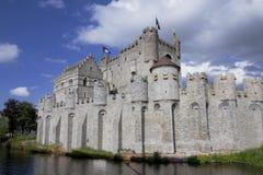 比利时城堡跟特gravensteen 免版税图库摄影