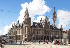 比利时市跟特 免版税图库摄影