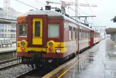 比利时市郊火车 库存图片