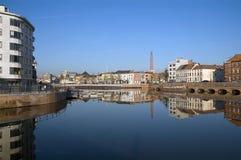 比利时市风景的跟特 库存图片