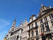比利时布鲁塞尔全部房子国王位置s 库存照片