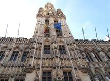 比利时布鲁塞尔全部grote markt安排 免版税库存图片
