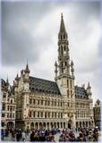 比利时布鲁塞尔 城镇厅 库存照片