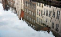 比利时布鲁日反映 免版税库存照片