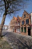 比利时布鲁日房子 免版税库存照片