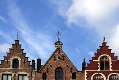 比利时布鲁日顶房顶三 库存照片