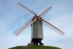 比利时布鲁日风车 免版税库存照片