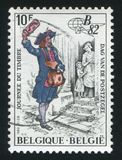 比利时打印的邮递员 免版税库存照片