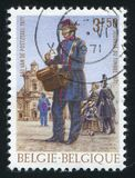 比利时打印的邮递员 库存照片
