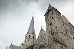 比利时教会跟特詹姆斯st 图库摄影