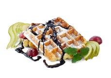 比利时梨奶蛋烘饼 免版税库存照片