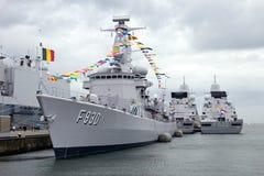 比利时海军大型驱逐舰 免版税库存图片