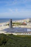比利时海岸在德帕内,比利时的夏天 库存图片