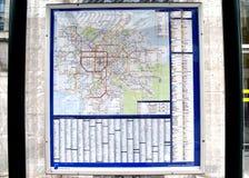 比利时火车地图 免版税库存图片