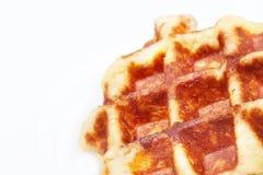 比利时特写镜头奶蛋烘饼 库存图片