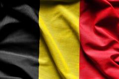 比利时的挥动的标志 免版税图库摄影
