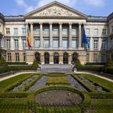 比利时议会大厦在布鲁塞尔 免版税库存照片