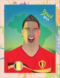 比利时足球迷 向量例证