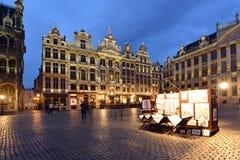 比利时,布鲁塞尔, Grotte Markt 免版税图库摄影