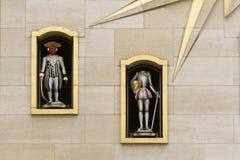 比利时,布鲁塞尔, Mont des艺术钟琴 免版税图库摄影