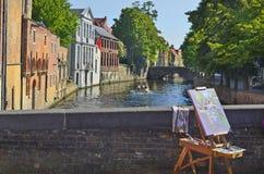 比利时,布鲁日 库存图片