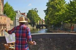 比利时,布鲁日 免版税库存图片