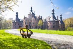 比利时Ooidonk,东弗兰德省的城堡 库存图片