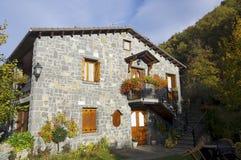 比利牛斯西班牙语村庄 免版税库存照片