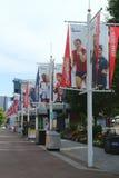比利・简・金国家网球中心准备好美国公开赛2013年比赛 库存照片